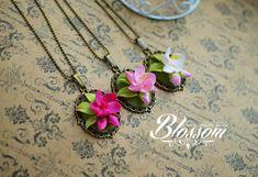Sakura Blossom bronze filigree pendant от HandMadeBlossom на Etsy