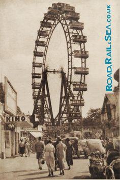 """One of the oldest operating Ferris Wheels in the world, the """"Wiener Riesenrad"""" is located at the Prater, a large amusement park in Vienna's district Visit Austria, Vienna Austria, Wiener Prater, Wheel In The Sky, Honeymoon Pictures, Carnival Rides, Austro Hungarian, Old London, Bratislava"""
