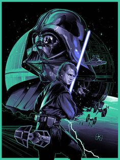 Star Wars inspired artwork featuring Anakin Skywalker by Gabz. This timed edition is only available from - Limited edition silk screen print measuring x Anakin Skywalker, Anakin Vader, Darth Vader, Vader Star Wars, Star Wars Rebels, Star Wars Fan Art, Theme Star Wars, Star Wars Collection, Sith