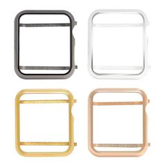 Metal case bezel cover for Apple Watch series 3 series 2 series 1 Apple Watch Series 3, Apple Watch Bands, Apple Watch Colors, Apple Watch Iphone, Iphone Stand, Apple Magic, Pink Watch, Series 4, Rose Gold