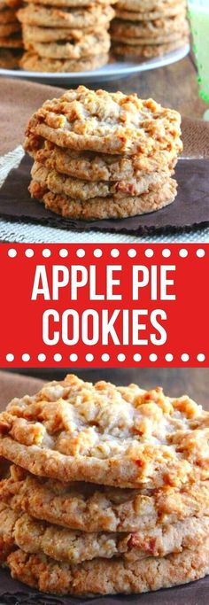 Easy Apple Pie Cookies may just be the perfect treat. Tiny little pieces of fresh apples are blended with apple pie spices for a simple vegan made from scratch recipe. Soft, easy, sweet and chewy all in one little cookie dessert. #applerecipes #veganapplepiecookies #easyapplepiecookies #dessert #vegancookies #applecookies #applepiecookiesfromscratch Delicious Cookie Recipes, Easy Cookie Recipes, Best Dessert Recipes, Apple Recipes, Brownie Recipes, Vegan Recipes Easy, Vegan Desserts, Easy Desserts, Baking Recipes