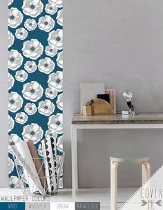 Removable wall decal Anemone flower Peel and Stick Self-adhesive vinyl Wallpaper - CM035