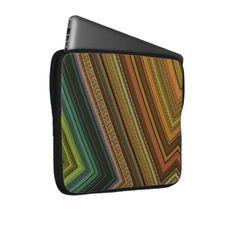 Striped Pattern Electronics Bag Laptop Sleeves by Gina Lee Manley ©gleem