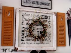 Vintage Window Wreath Tutorial perfect to display in your home! { lilluna.com }