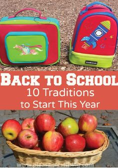 The first day of school is in the near future! Start these fun traditions that make going back to school even more fun and memorable.