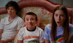 Charlie McDermott Family | Charlie McDermott as Axl, Atticus Shaffer as Brick, and Eden Sher as ...