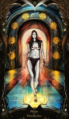 Tarot: 9 of Pentacles by =Tsabo6 on deviantART