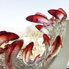 "Crystal Fish Figurine (Love All Around) - ""Nine Dragon Fish"" 