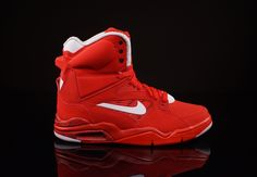 Not 100% sold on the red, but it's growing on me...Nike Air Command Force University Red