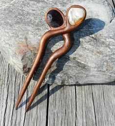 Wooden hair fork Hand carved hair fork Hair Accessory