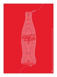 Kiss The Past Hello. Coca-Cola Design: 100 Years of the Coca-Cola Bottle. by: Finished Art Coca Cola Santa, Coca Cola Ad, World Of Coca Cola, Coke Ad, Orange Aesthetic, Poster Ads, Coco, Graphic Design, Bottle
