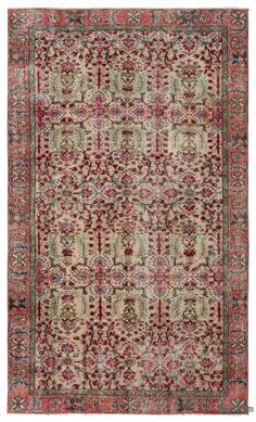 "For a contemporary look with a vintage appeal, we source rugs in excellent condition and carefully trim the piles to achieve an eye-catching ""distressed"" look. Woven with wool on cotton, this fine rug measures 5'5'' x 9'1'' (165 cm x 278 cm). In addition to being unique and hand-made, these rugs make a very special statement about bridging generations of artisanal skill and knowledge over time with a charming look that complements any modern or bohemian décor. Check out our article Get The…"