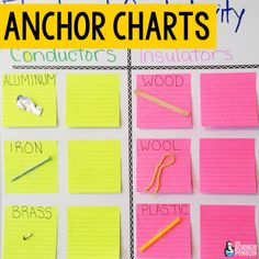 10 Ideas for Science Vocabulary Vocabulary Activities, Vocabulary Words, Learn Science, Elementary Science, Conductors, Anchor Charts, Student Learning, Education, Ideas