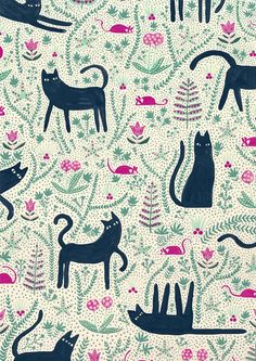 I've been asked a few times about doing a cat themed illustration… so here it is!! All of the cats.