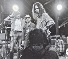 Ben Keith, Tim Drummond, Tim Mulligan and Neil Young, 1972