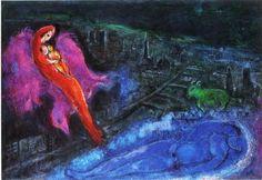 Marc Chagall, Bridges Over The Seine, 1954, Kunsthalle Hamburg, Hamburg