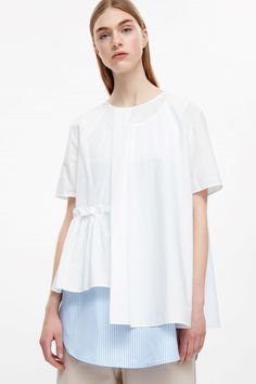 COS | Top with frill hem