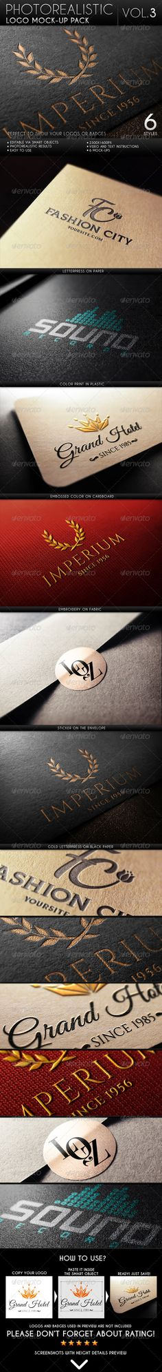 Photorealistic Logo MockUp Pack Vol.3 — Photoshop PSD #3d #realistic • Available here → https://graphicriver.net/item/photorealistic-logo-mockup-pack-vol3/6627640?ref=pxcr