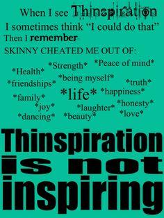 Don't let skinny cheat you. #skinnyisalie #thinspiration isnotinspiration anit- #thinspo