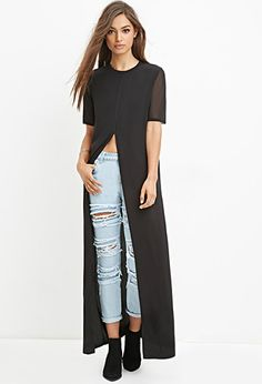 High-Slit Maxi Top | Forever 21 - 2000142729