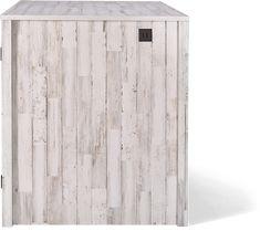 Litter Box Farmhouse Style Credenza | Litter-Robot Litter Robot, Rustic White, Modern Farmhouse Style, Cat Furniture, Credenza, Plank, Living Spaces, Box, Outdoor Decor