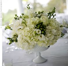 I'm collecting Milk Glass compotes..can't wait to design something stunning for a wedding!