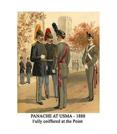 Buyenlarge 'PANACHE AT USMA - 1888 - Fully coiffured at the Point' by Henry Alexander Ogden Painting Print