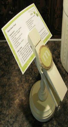 DIY Recipe Card Holder