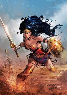 "phrrmp: ""Wonder Woman 2017 DC COMICS (color) by le0arts on @deviantart """