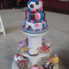 Polymer clay cake and sweets