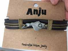 Anju Handcrafted Artisan Jewelry - Custom Piece - Catalina bracelet Artisan Jewelry, Bracelets, Projects, Leather, Men, Bangles, Log Projects, Bracelet, Guys