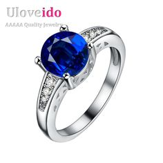 Find More Rings Information about Ring Wedding Bride Jewelry Sapphire Band Silver Plated Ring with Blue Stone Crystal Rhinestone finger Rings for women Anel PJ153,High Quality ring,China ring alteration Suppliers, Cheap ring tin from D&C Fashion Jewelry Buy to Get a Free Gift on Aliexpress.com