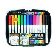 13 Colors/Set Colored Marker Pen Fabric Ceramic Plastic T-shirt Paint Pen Handpainting Art School Supplies Stationery