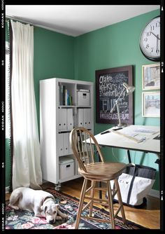 This cool color is a softer alternative to turquoise, but it still has a serene, ocean-like quality.  Paint pick: Spearmint 6465 by Sherwin-Williams