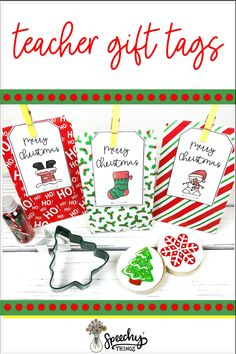 Teacher gift ideas for holidays, Christmas and Hanukkah! These gift tags make any present extra cute. #slp #tpt #tptresources Holiday Gift Tags, Christmas Holidays, Christmas Gifts, Merry Christmas, Hanukkah Gifts, Happy Hanukkah, Christmas Speech Therapy, Teacher Gift Tags, Christmas Activities For Kids
