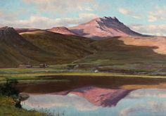 Christian Skredsvig  (1854-1924): Sommermorgen i fjellet