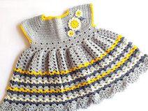 Daisy Crochet Baby Girl Dress