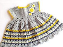 Daisy Crochet Baby Girl Dress
