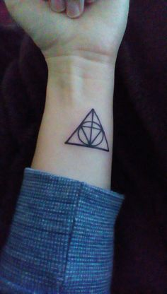 Combination Deathly Hallows and Triforce tattoo