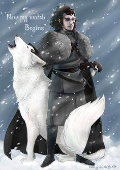 Now my watch Begins: Jon Snow by Kinky-chichi on DeviantArt