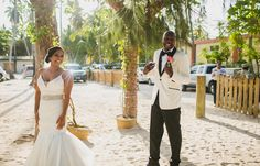 Melissa & Edwin's destination wedding in Punta Cana; Punta Cana beach wedding, beach wedding in Punta Cana, beach wedding first look @destweds