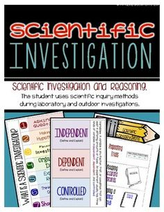 Science Investigation and Reasoning Learning Goal: The student uses scientific inquiry methods during laboratory and outdoor investigations.A science notebook is an amazing strategy for your students to record and reflect on inquiry-based observations, activities, investigations, and experiments that will increase their comprehension and understanding of science instruction.