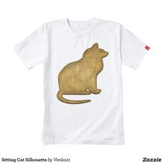 Sitting Cat Silhouette Zazzle HEART T-Shirt