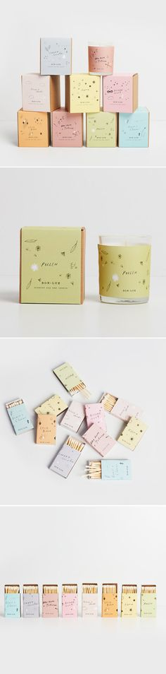 soy wax candle 'pollen' - glass votive + illustrated gift box, happy Spring gift, wattle blossom + flowering eucalyptus | BON LUX