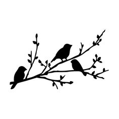 bird on branch silhouette stencil bird on branch silhouette 3 Bird Stencil, Stencil Painting, Painting Walls, Stenciling, Canvas Wall Decor, Wall Art, Wall Decals, Cd R, Bird On Branch