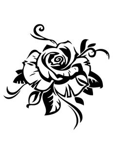 Rose Design Coloring Page