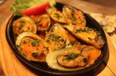 mussels in white wine sauce   - Costa Rica