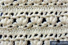 MyPicot | Free crochet patterns - absolutely love the look of this stitch combination