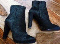 Theory Calf Hair Ankle Black Boots Size: 10New with tags 43% off Retail WAS $325.00 NOW $185.00