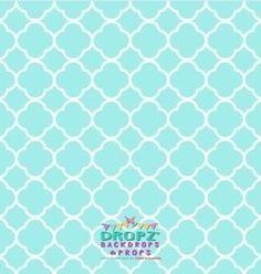 Aqua quarterfoil lattice  #dropz #backdrop #backdrops #photography #dropzbackdropsaustralia #vinylbackdrop #cakedrops #scenicbackdrop #backdropsaustralia #photobackdrop